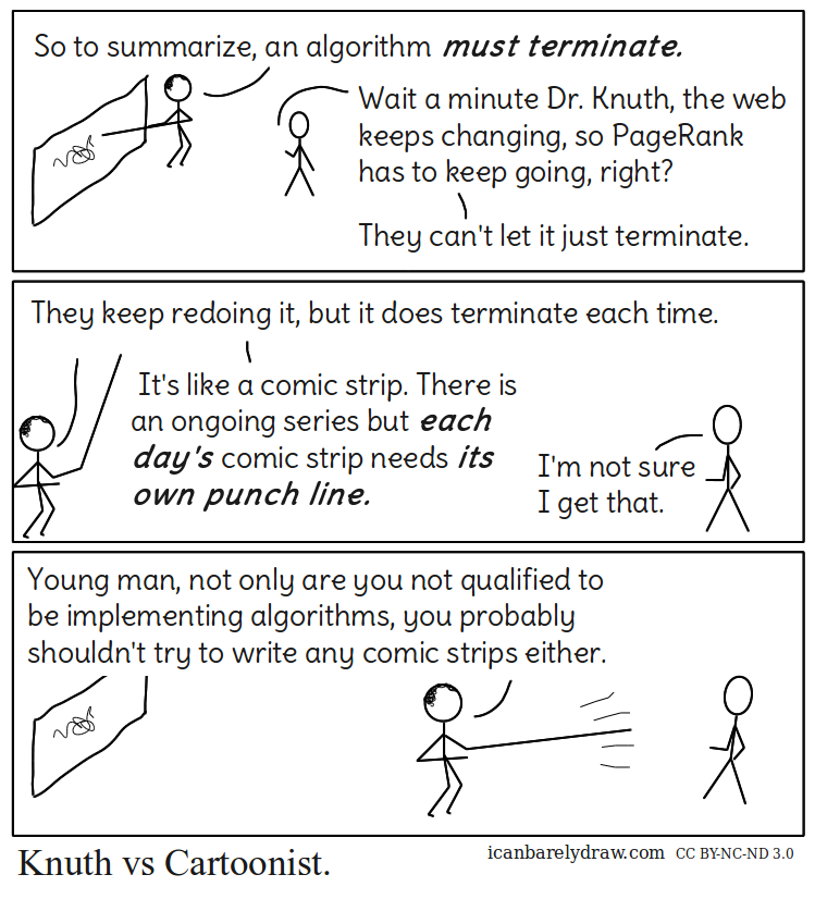 Knuth vs Cartoonist