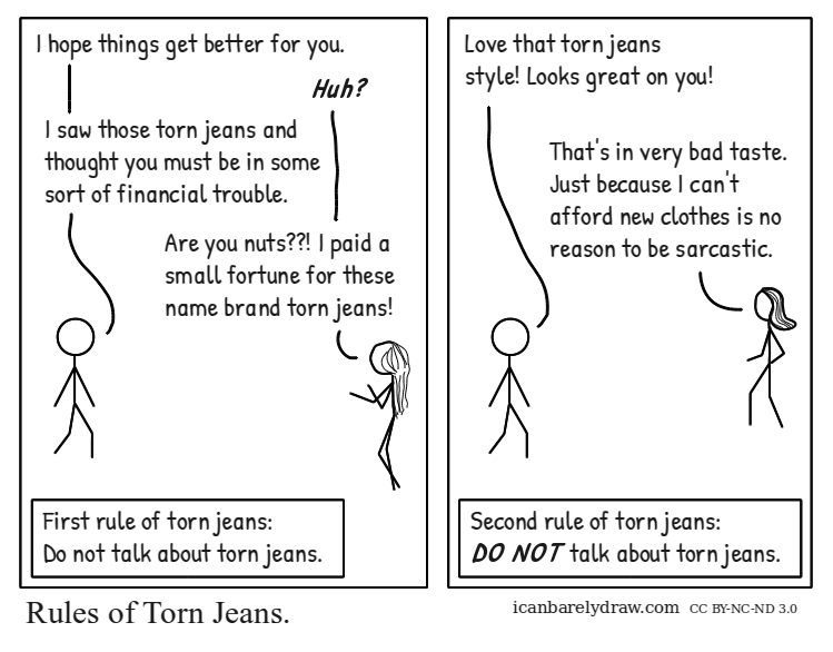 Rules of Torn Jeans