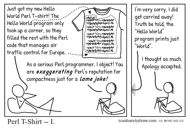 Perl T-Shirt — I