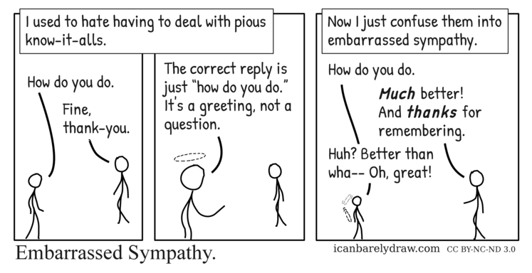 Embarrassed Sympathy