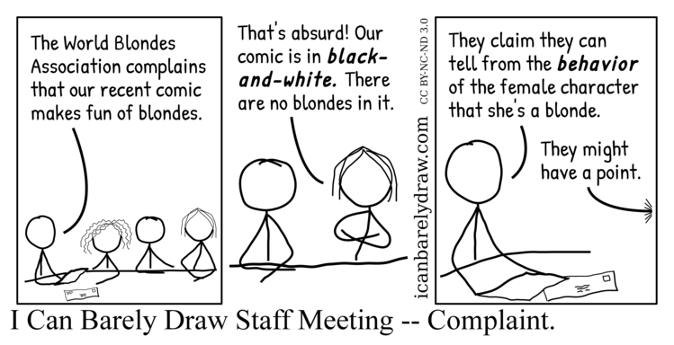 I Can Barely Draw Staff Meeting — Complaint