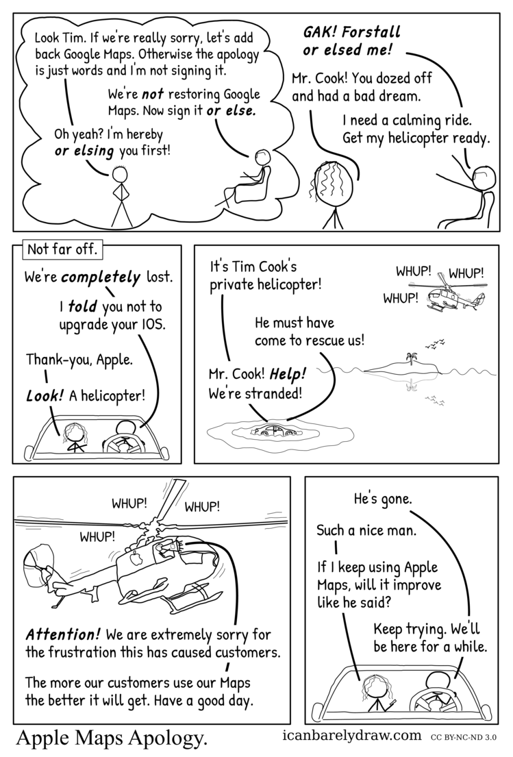 Apple Maps Apology